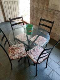 Vendo mesa de vidro ou troco