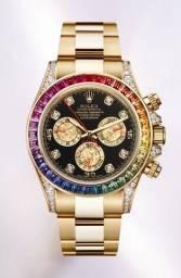 Relógio Rolex Daytona Rainbow Novo - Cravejado