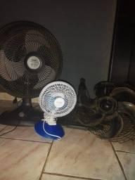 Três ventiladores p/ tirar peça