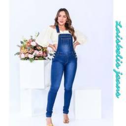 Jardineira jeans calça