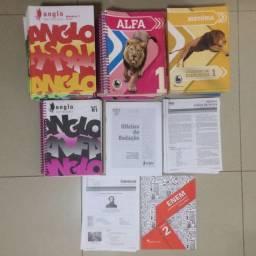 Material anglo alfa rosa completo