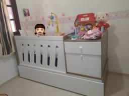 Berço de bebê + mosquiteiro + comoda e cama embutida