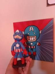 Capitão América em Porcelana Fria