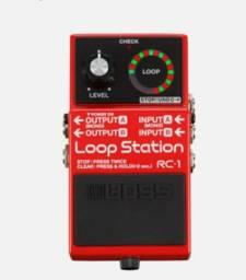 RC1  -  Loop Station  Novo - (Troco por Guitarra ou Pedaleira, também vendo)