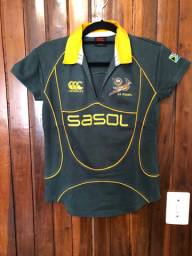 Blusa oficial do time da África do Sul de Rúgbi