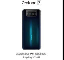 Aceito trocas Smartphone ASUS ZenFone 7 8/128 preto novo