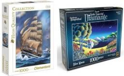 Dois quebra-cabeças de 1000 peças
