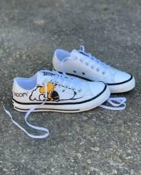 ALL Star converse branco Snoopy (PROMOÇÃO)