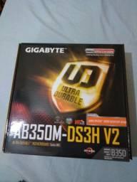 Placa-mãe GigabyteGA-AB350M-DS3H V2, Amd am4 mATX, ddr4