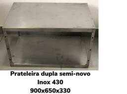 PRATELEIRA DUPLA EM AÇO INOX