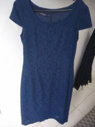 Vestido Tubinho Social Azul