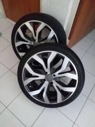 Roda 17 com pneus novos