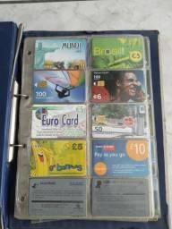 Cartões telefônicos (coleção) mais de 500