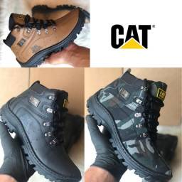 Lançamento adventure exteme original couro confortavel botas CAT