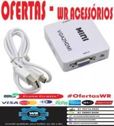 Conversor/Adaptador VGA para HDMI -ENTREGA GRÁTIS