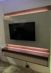 """Painel Savoy R709 TV 60"""", LED, Tampo e prateleira 25mm. Entrega Rápida!"""