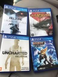 Killzone, God of War, Uncharted e Ratchet Clank PS4