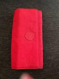 Carteira kipling vermelha R$170,00