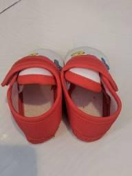 Sapato ABC vermelho e branco infantil