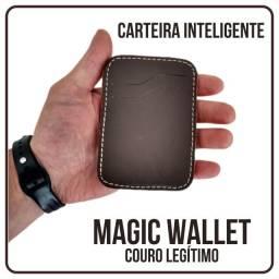 Carteira inteligente / Couro Legítimo / Wallet Magic