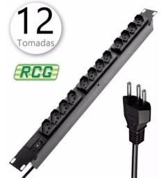 Filtro de Linha p/ Rack 12 Tomadas Profissional Extensão Bivolt RCG -Novo Lacrado