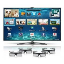 Smart Tv led 3D samsung 55 plg com controle de voz e movimento camera