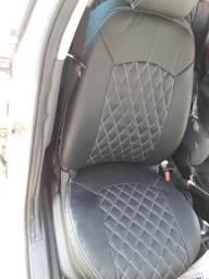 Capas de banco do punto xxxx em courvin automotivo preto