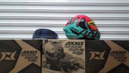 Capacete Axxis + viseira