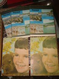 Lote com 5 cadernos antigos sem uso, anos 60, anos 70