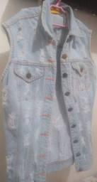 Maxi Colete Jeans / Camisa Estampada Leia a descrição Obg ?