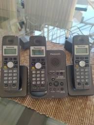 Telefone Panasonic 3 bases sem fio