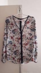 Blusa, marca: zara, tamanho: M, viscose,ótimo estado