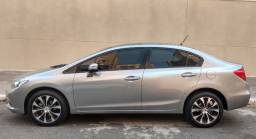 Honda Civic 2.0 LXR 2015 Cinza em perfeito estado