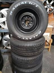 Rodas C10 aro 15 com pneus