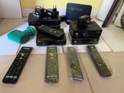 Vendo receptores de TV, Modens completos com fonte e controle remoto