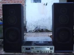 Caixas de som vintage sanyo troco p aparelhos marantz