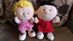 Bonecas Lucy e Sally (Turma do Snoopy e Charlie Brown) 90,00
