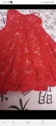 Vestindo de Renda Vermelho Jotatreis