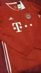 Título do anúncio: Camisa Bayern de Munique manga longa 20/21