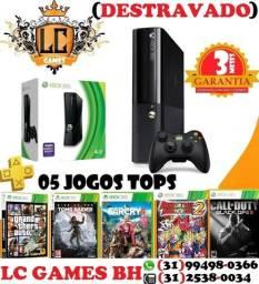 XBOX 360 DESBlOQUEaDO + 05 JOGOs + 03MESEs Garantia
