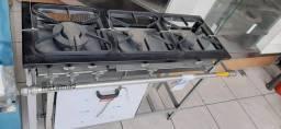 Fogão 3 bocas c/ forno - Metalmaq