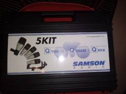 Kit de 5 Microfones de Bateria - Samson