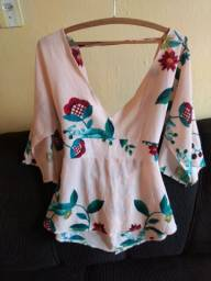 Blusa soltinha estampada R$18,00