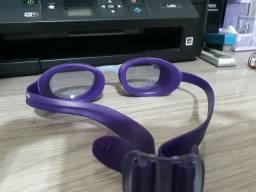 Óculos de natação roxo Nabaiji semi novo com Xbase