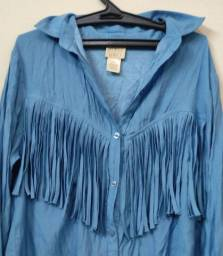 Blusa franja cawboy azul