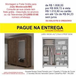 Guarda Roupa Casal Penedo com 1 Espelho 2 Portas 2 Gavetas Canion CestaPlus