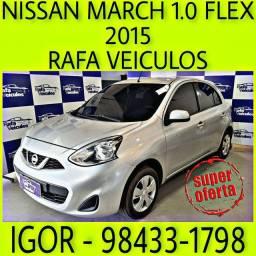 NISSAN MARCH S 1.0 FLEX 2015 1 MIL DE ENTRADA FALAR COM IGOR ggwe