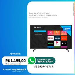 OFERTA Smart TV HD LED 32 AOC<br><br>