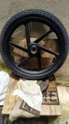 Roda Biz completa com pneu