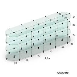 Gôndola De Vidro Oval Para Lojas Em Geral 2,60x1,00x0,60m ?